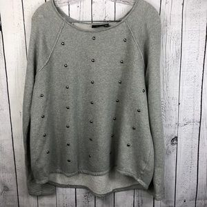 🆕 A.n.a • Silver Button Embellished Sweater
